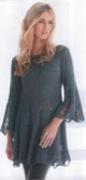 Женская туника, связанная спицами