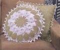 Ажурные чехлы на подушки, связанные крючком. Описание + схемы