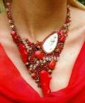 Украшения своими руками: ожерелье и браслет. Описание + схемы