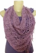 Ажурный шарф, связанный спицами
