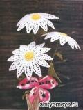 Маргаритки - цветы, связанные крючком. Описание и схемы вязания бесплатно