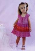 Детское ажурное платье для девочки, связанное крючком. Описание + схемы