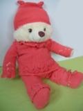 Детский костюмчик: кофточка, штанишки, шапочка и пинетки, связанные спицами, на ребенка до 1 года. Авторская работа