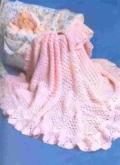 Розовый детский плед для девочки, связанный крючком. Описание + схемы