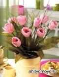 Тюльпаны, связанные крючком. Описание и схемы вязания бесплатно
