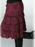 Женская юбка, связанная крючком. Описание + схемы