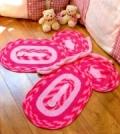 Детский коврик в форме бабочки, связанный крючком. Описание + схемы