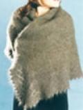 Ажурный платок, связанный спицами