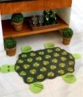 Детский коврик-черепаха, связанный крючком. Описание + схемы