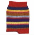 Полосатые носки, связанные спицами. Подробное описание