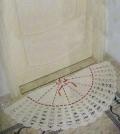 Бежевый коврик-веер, связанный крючком. Описание + схема