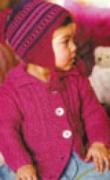 Детская шапочка, связанная спицами