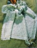 Детское ажурное покрывало в стиле «Ретро», связанное крючком