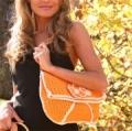 Летняя оранжевая сумка, связанная крючком. Описание + схемы