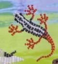 Поделки своими руками: животные из бисера – ящерица. Схема. Для начинающих