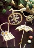 Поделки своими руками: велосипед-миниатюра, связанный крючком. Описание + схема