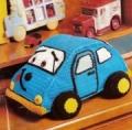 Детские игрушки своими руками: машина, связанная крючком. Описание + схемы