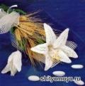 Поделки своими руками: связанный крючком цветок - белая лилия. Описание + схемы