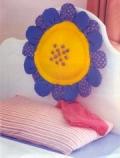 Детская подушка-цветок для изголовья кровати. Пошаговое описание + выкройки