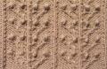 Аранское вязание: узор спицами 13 - распустившиеся веточки. Описание + схемы