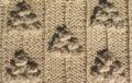 Аранское вязание: узор спицами 14 - виноград. Описание + схемы