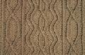 Аранское вязание: узор спицами - цепочка и подковы с шишечками. Описание + схемы