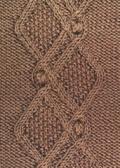 Аранское вязание: узор спицами 20 - ромбы с шишечками. Описание + схемы