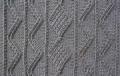 Аранское вязание: узор спицами 22 - морские волны и ромбы. Описание + схемы