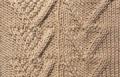 Аранское вязание: узор спицами 25 - два сердца. Описание + схемы