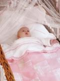 Мастер-класс : розовое детское одеяло, сшитое своими руками