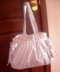 Белая летняя сумка, сшитая своими руками. Авторская работа. Подробное описание + выкройки