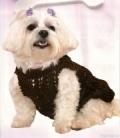 Одежда для животных: коричневое платье для собаки. Описание + схемы