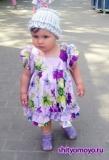 Детское летнее платье на девочку 1,5-2 лет с оборками и рукавами-фонариками, сшитое своими руками. Авторская работа. Пошаговое описание + выкройки
