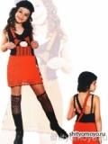 Детский красно-черный сарафан, связанный крючком. Описание + схемы