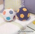 Детская подушка-мяч, связанная крючком. Описание + схемы