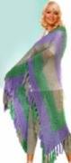 Ажурная шаль, связанная крючком -1