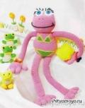 Детская игрушка своими руками: лягушка в бикини, связанная крючком. Описание + схемы