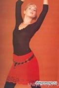 Красная юбка, связанная крючком. Описание + бесплатные схемы