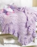 Вязание для детей: сиреневый плед. Бесплатные схемы вязания спицами