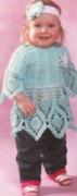 Детская туника с повязкой, связанные крючком