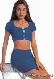 Вязание спицами модели бесплатно: вязание юбки