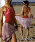 Бесплатные модели вязания спицами: сиреневое парео
