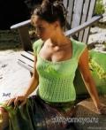 Бесплатные модели и схемы вязания: ажурная летняя кофточка спицами