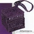 Бесплатные модели и схемы вязания: фиолетовая сумочка крючком