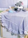 Вязание спицами для детей модели и схемы бесплатно: голубой плед для мальчика