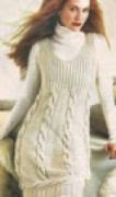 Джемпер с косами, связанный спицами