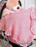 Вязание для детей: бесплатные модели и схемы вязания: розовый плед