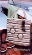 Вязание: бесплатные схемы и модели: пляжная сумка крючком