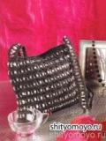Вязание крючком схемы модели бесплатно: черная сумка из крышек от пивных банок