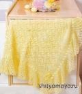 Вязание для детей: бесплатные схемы вязания спицами - желтый плед